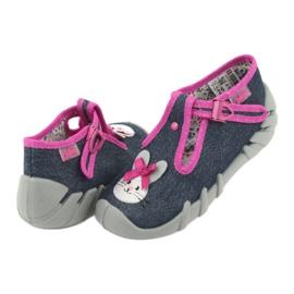 Încălțăminte pentru copii Befado 110P379 albastru marin roz 5