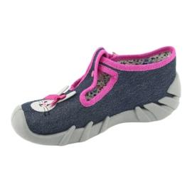 Încălțăminte pentru copii Befado 110P379 albastru marin roz 3