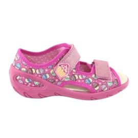 Pantofi pentru copii Befado 065X136 roz multicolor 1