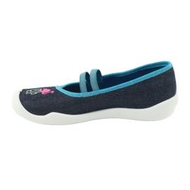 Încălțăminte pentru copii Befado 116Y270 albastru roz gri multicolor 3