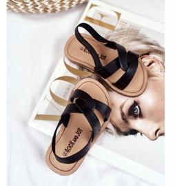 FRROCK Sandale pentru copii, din bambus negru, cu bandă elastică 3