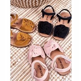 FRROCK Sandale galbene Goofy Velcro pentru copii 4