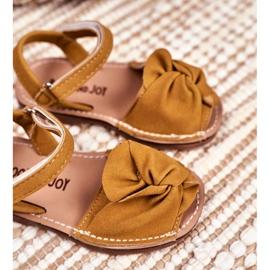 FRROCK Sandale galbene Goofy Velcro pentru copii 3