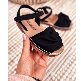 FRROCK Sandale galbene Goofy Velcro pentru copii negru 2