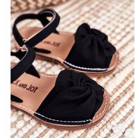 FRROCK Sandale galbene Goofy Velcro pentru copii negru 3