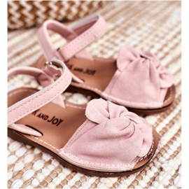 FRROCK Sandale pentru copii cu Velcro Pink Goofy roz 4
