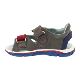 Sandale cu velcro Mazurek 314 gri / roșu albastru 1