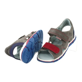 Sandale cu velcro Mazurek 314 gri / roșu albastru 3