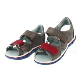 Sandale cu velcro Mazurek 314 gri / roșu albastru 2