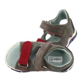 Sandale cu velcro Mazurek 314 gri / roșu albastru 4
