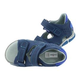 Sandale cu velcro Mazurek 314 bleumarin / albastru albastru marin 5