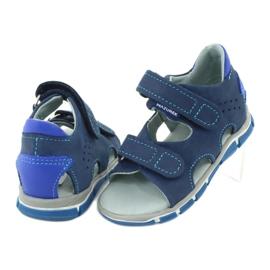 Sandale cu velcro Mazurek 314 bleumarin / albastru albastru marin 3