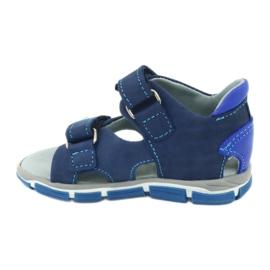 Sandale cu velcro Mazurek 314 bleumarin / albastru albastru marin 1