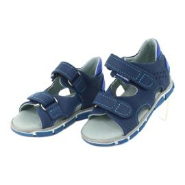 Sandale cu velcro Mazurek 314 bleumarin / albastru albastru marin 2