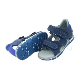 Sandale cu velcro Mazurek 314 bleumarin / albastru albastru marin 4