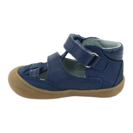 Sandale napi băieți Mazurek 1187 bleumarin albastru marin 1