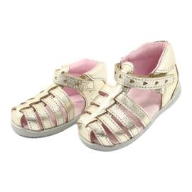 Sandale din piele aurie Mazurek 245 de aur 2