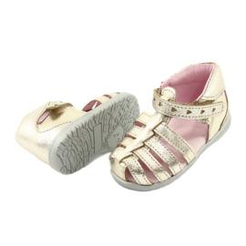 Sandale din piele aurie Mazurek 245 de aur 3