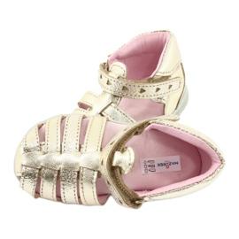 Sandale din piele aurie Mazurek 245 de aur 4