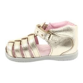 Sandale din piele aurie Mazurek 245 de aur 1