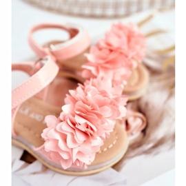 FRROCK Sandale pentru copii cu velcro strălucitor roz Milena 3