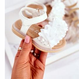 FRROCK Sandale pentru copii cu velcro strălucitor alb Milena 2