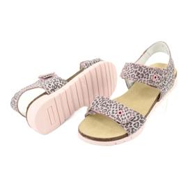Sandale roz Bartek cu imprimeu leopard 76183-BBK bej gri 3