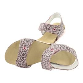 Sandale roz Bartek cu imprimeu leopard 76183-BBK bej gri 4