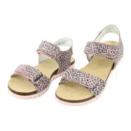 Sandale roz Bartek cu imprimeu leopard 79183-BBK bej gri 2