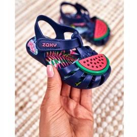 Sandale copii cu velcro pepene verde parfumat ZAXY FF3855013 albastru marin 1