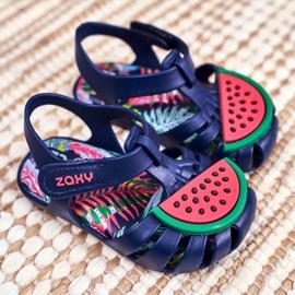 Sandale copii cu velcro pepene verde parfumat ZAXY FF3855013 albastru marin 2