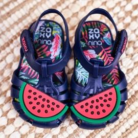 Sandale copii cu velcro pepene verde parfumat ZAXY FF3855013 albastru marin 3
