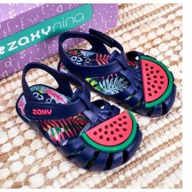Sandale copii cu velcro pepene verde parfumat ZAXY FF3855013 albastru marin 4
