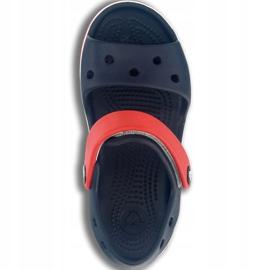 Sandale Crocs Crocband pentru copii 12856 485 alb roșu albastru 1