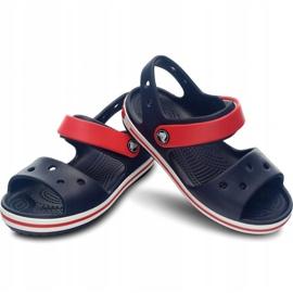 Sandale Crocs Crocband pentru copii 12856 485 alb roșu albastru 2