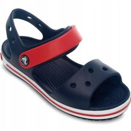 Sandale Crocs Crocband pentru copii 12856 485 alb roșu albastru 3
