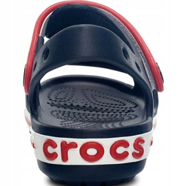 Sandale Crocs Crocband pentru copii 12856 485 alb roșu albastru 4