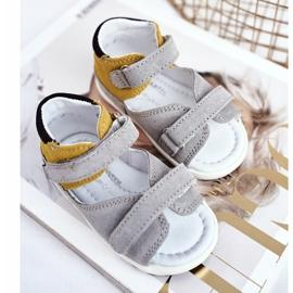 Bartek S.A. Sandale pentru copii Preventive Mini First Steps Bartek W-71266 gri galben 3