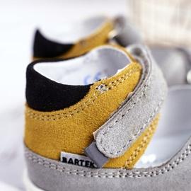 Bartek S.A. Sandale pentru copii Preventive Mini First Steps Bartek W-71266 gri galben 4