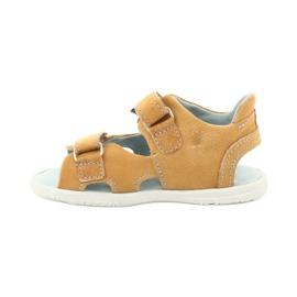 Sandale cu velcro Mazurek 314 camel multicolor galben 1