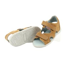Sandale cu velcro Mazurek 314 camel multicolor galben 3