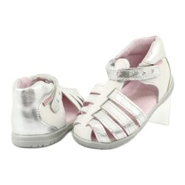 Sandale din piele Mazurek 245 alb gri 3