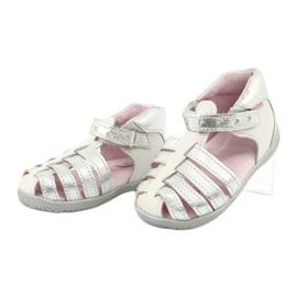 Sandale din piele Mazurek 245 alb gri 2