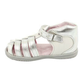 Sandale din piele Mazurek 245 alb gri 1