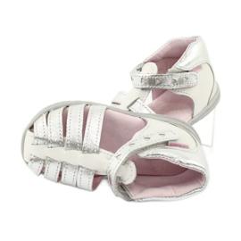 Sandale din piele Mazurek 245 alb gri 4