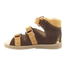 Sandale Mazurek cu profilaxie înaltă 291 maro galben 1