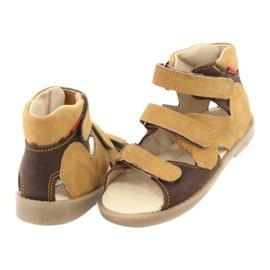 Sandale Mazurek cu profilaxie înaltă 291 maro galben 3