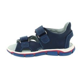 Sandale cu velcro Mazurek 314 bleumarin albastru marin 1