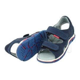 Sandale cu velcro Mazurek 314 bleumarin albastru marin 4