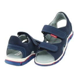 Sandale cu velcro Mazurek 314 bleumarin albastru marin 3